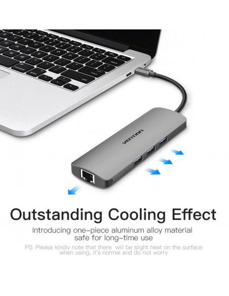 USB-C Hub dongle: HDMI 4K + 2x USB 3.0 + Card reader